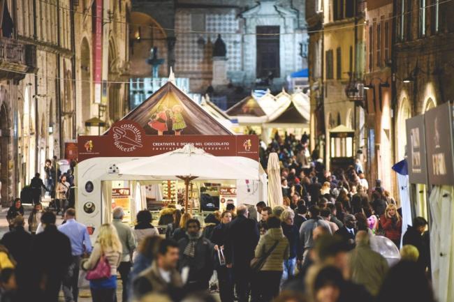 Eurochocolate 2015 a Perugia Umbria - Sosta da Pizza... e Vai tavolacalda a Orte
